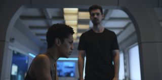 """Dominique Tipper and Steven Strait in Season 5 of """"The Expanse"""" on Amazon Prime Video."""