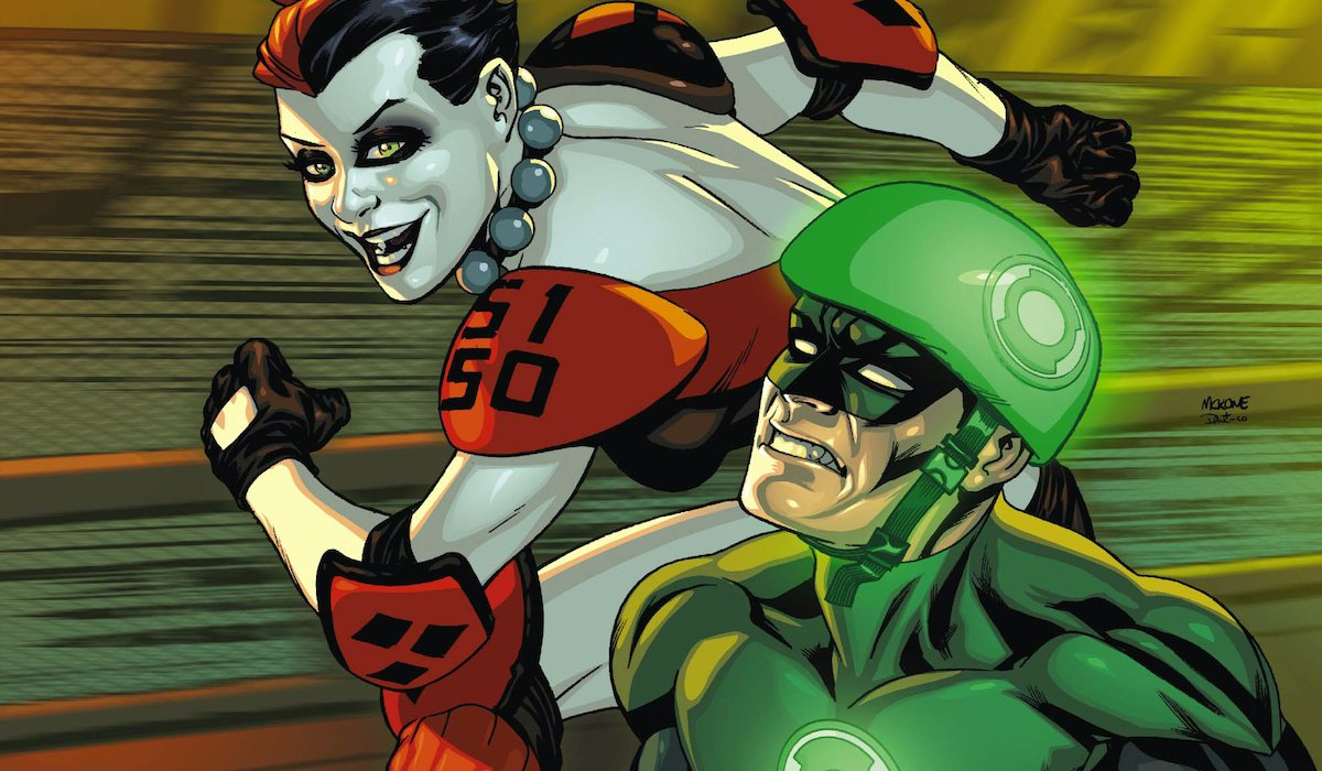 Harley Quinn and Hal Jordan / Green Lantern in the comics
