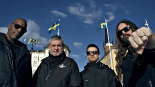 A picture of Sepultura in Sweden, where they recorded Machine Messiah