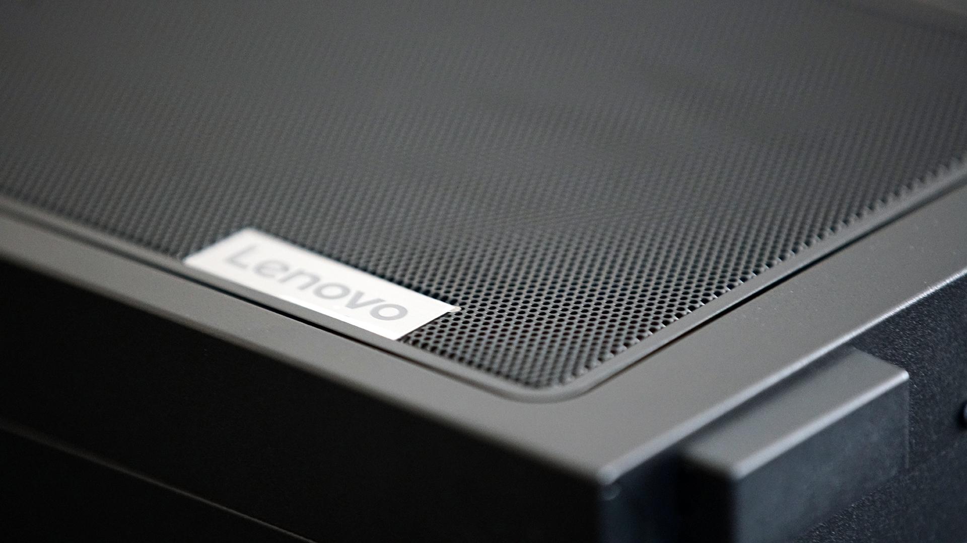 Lenovo Legion 5i back top of case, showing ventilation