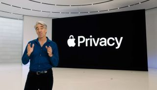Apple's Craig Federighi presenting privacy features at Apple's World Wide Developers Conference, June 22, 2020.