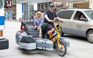 Millennium Falcon pedicab in Manhattan