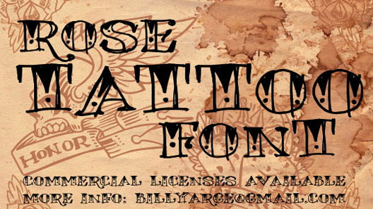 rose tattoo free font
