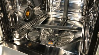 How to clean a dishwasher — a picture of a clean dishwasher