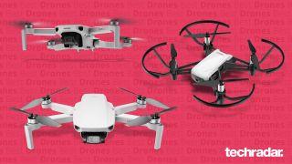 The DJI Air 2S, DJI Mini 2 and Ryze Tello drones