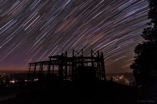 Star Trails Over Devasthal Peak India Talwar