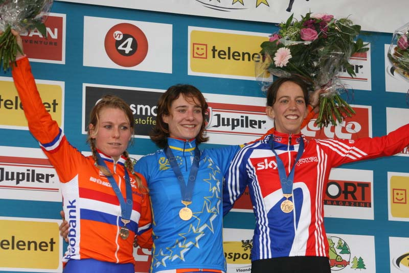 Helen Wyman on Euro CX champs podium