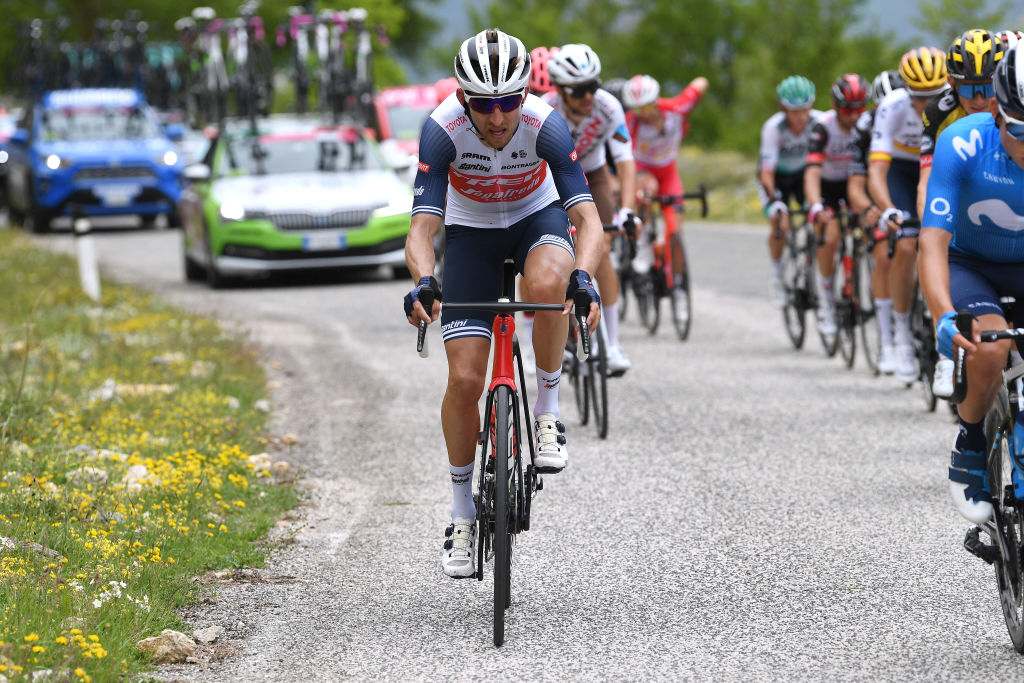 CAMPO FELICE ROCCA DI CAMBIO ITALY MAY 16 Bauke Mollema of Netherlands and Team Trek Segafredo during the 104th Giro dItalia 2021 Stage 9 a 158km stage from Castel di Sangro to Campo Felice Rocca di Cambio 1665m girodiitalia Giro UCIworldtour on May 16 2021 in Campo Felice Rocca di Cambio Italy Photo by Tim de WaeleGetty Images