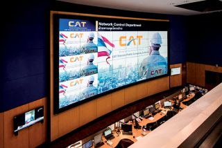 Click here for high resolution image. Extron Quantum Elite Powered Videowall Provides Clear View of Network Conditions for Thailand's CAT Telecom
