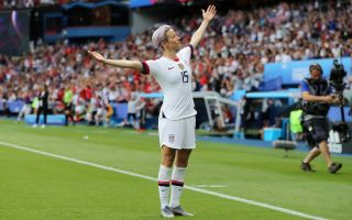 Megan Rapinoe of the U.S. Women's Soccer Team (Credit: Elsa/Getty)