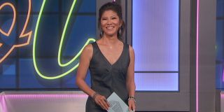 Julie Chen on the Big Brother stage cbs