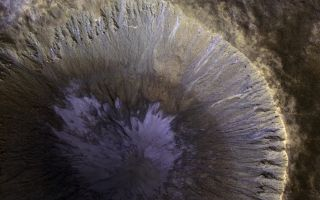 Gullies Streak Slopes of Mars Crater