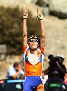Robert Gesink (Rabobank) wins stage 7 of the 2012 Amgen Tour of California