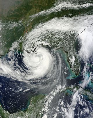 Photo of Hurricane Isaac from space from NASA's Terra satellite.