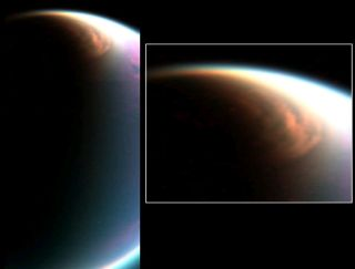 Mammoth Cloud Engulfs Titan's North Pole