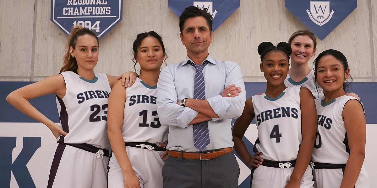 John Stamos and cast of Big Shot