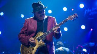Carlos Santana performing live