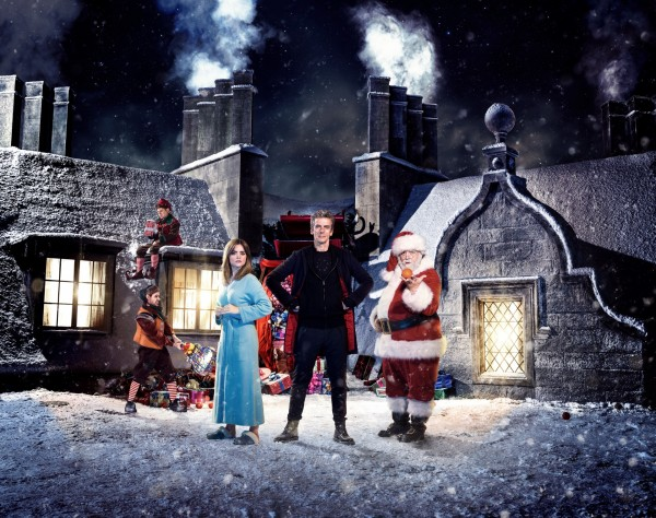 A shot of the Doctor Who Christmas special