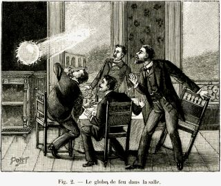A 1901 illustration depicts ball lightning.