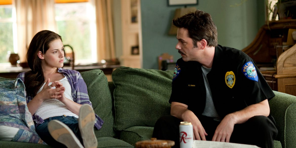 Bella and Charlie in Twilight