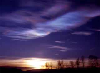 stratosphere clouds over Arctic