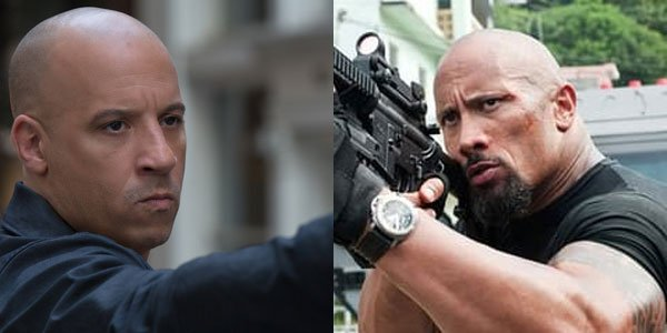 fate of the furious the rock vin diesel