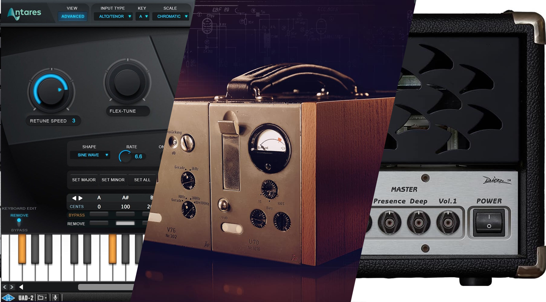 Antares Auto-Tune Realtime Advanced and Diezel Herbert plugins make