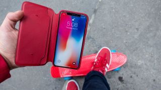 The red iPhone X folio case is now available