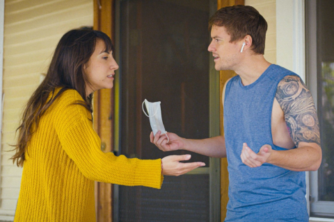 Ali Vingiano and Ben Coleman star in the the COVID dramedy 'The End of Us.'