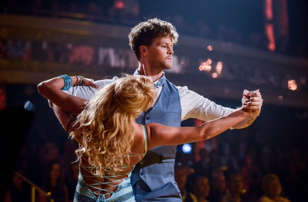 Aliona Vilani and Jay McGuiness during a live show of Strictly Come Dancing on BBC1.