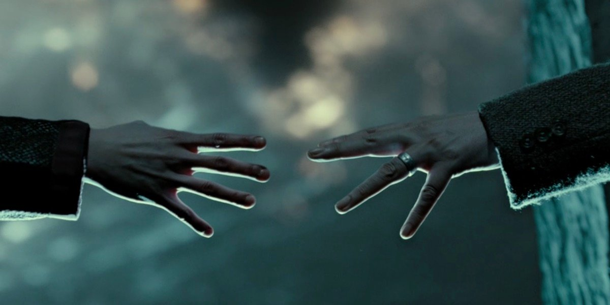 Remus Lupin and Tonks' hands during the Battle of Hogwarts