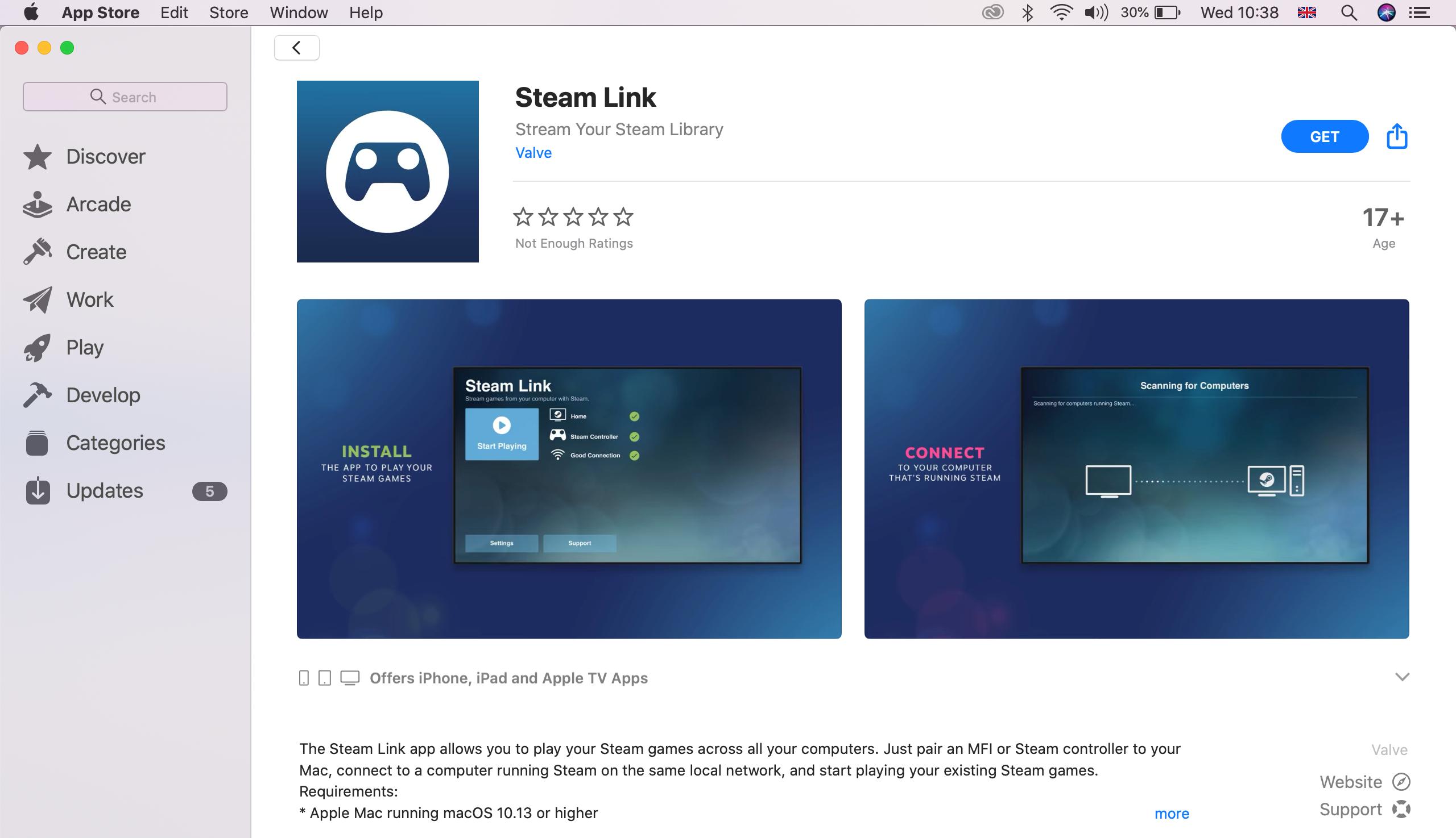 Steam Link on macOS