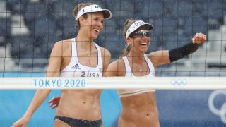 How to watch beach volleyball at Tokyo Olympics: Alix Klineman and April Ross of Team USA