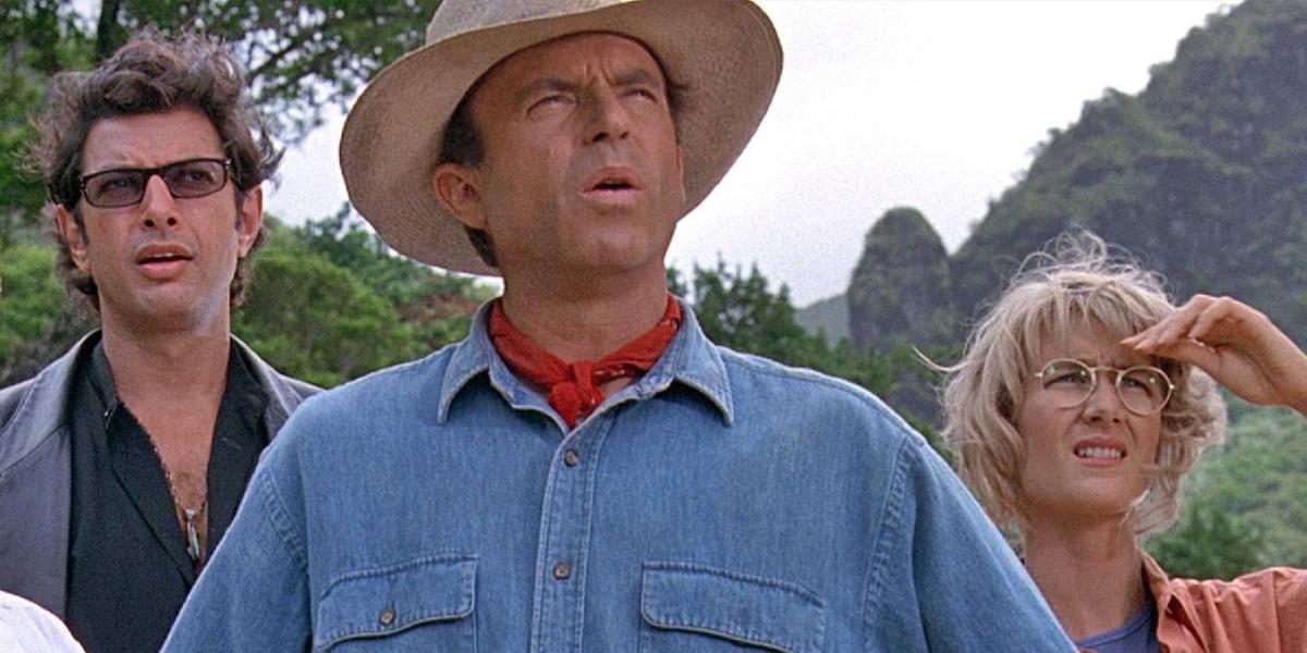 The original trio in Jurassic Park