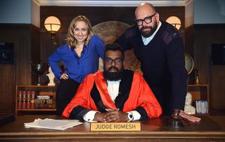 Judge Romesh. Picture shows (l-r): Kerry Howard, Romesh Ranganathan, Tom Davis