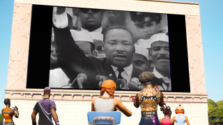 The MLK exhibition in Fortnite.