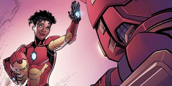 Riri Williams as Ironheart in her Marvel Comics book series