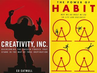 Book covers for Creativity, Inc and The Power of Habit