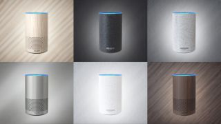 Amazon Echo smart speaker in all colours