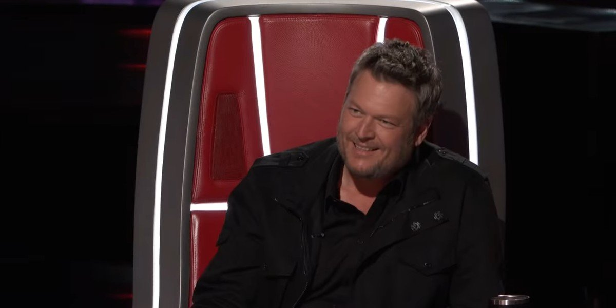 Blake Shelton feeling a little deflated after Ariana Grande peeped his intimidation game on The Voice