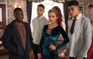 Goldie McQueen has mixed feelings about Shane's return in Hollyoaks.