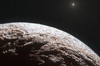 Dwarf Planet Makemake in Artist's Rendering