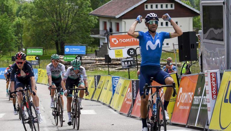 Alejandro Valverde wins stage six of the Critérium du Dauphiné 2021