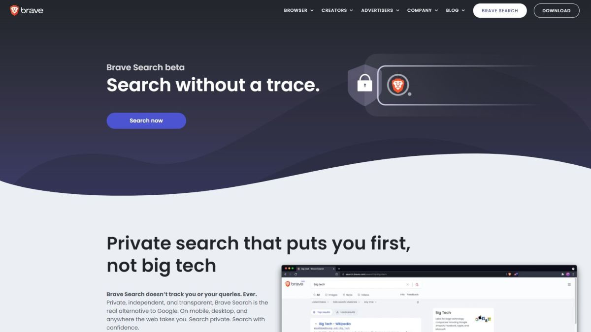 Brave Search search engine review