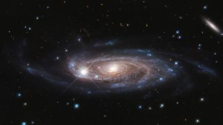 This Hubble Space Telescope photograph showcases the majestic spiral galaxy UGC 2885, located 232 million light-years away in the northern constellation Perseus.