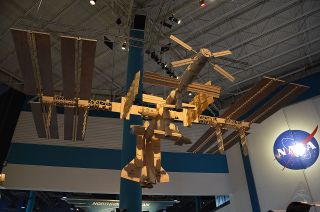 Matchstick Model of the International Space Station