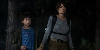 Finn Little and Angelina Jolie in Those Who Wish Me Dead (2021)