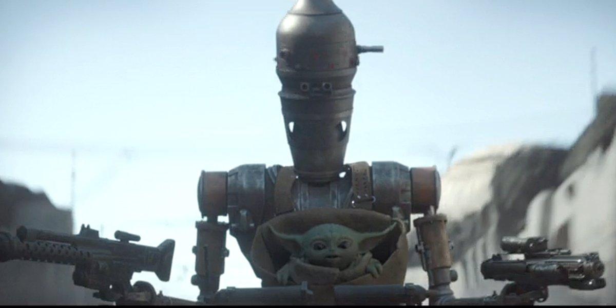 The Mandalorian Season 1 Episode 8 nurse droid IG-11 saves Baby Yoda Disney+