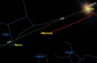 Mercury at Greatest Elongation East in September 2015