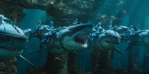 Sharks and their riders gear up for battle in Aquaman
